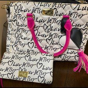 Betsey Johnson monogram purse
